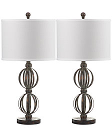 Safavieh Set of 2 Calista Double Sphere Table Lamps