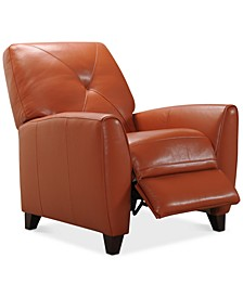 Myia Leather Pushback Recliner, Created for Macy's