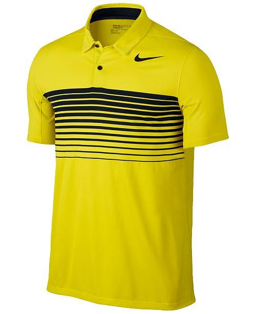 634337438 Nike Men's Mobility Dri-FIT Speed Stripe Golf Polo & Reviews - Polos ...