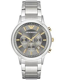 Men's Chronograph Stainless Steel Bracelet Watch 43mm AR11047