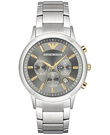 Emporio Armani Men's Chronograph Stainless Steel Bracelet Watch 43mm AR11047