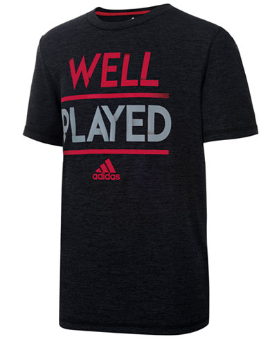 adidas Graphic-Print ClimaLite� T-Shirt, Big Boys (8-20)