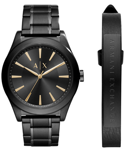 A|X Armani Exchange Men's Stainless Steel Bracelet Watch 44mm AX7102 Gift Set