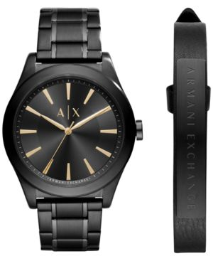 AX Armani Exchange Men's Stainless Steel Bracelet Watch 44mm AX7102 Gift Set thumbnail