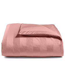 CLOSEOUT! Charter Club Damask Stripe Full/Queen Duvet Cover, 100% Supima Cotton 550 Thread Count, Created for Macy's