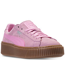 Puma Big Girls' Suede Platform Casual Sneakers from Finish Line