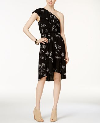 Lucky Brand One-Shoulder High-Low Dress