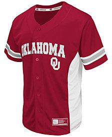 Colosseum Men's Oklahoma Sooners Strike Zone Baseball Jersey