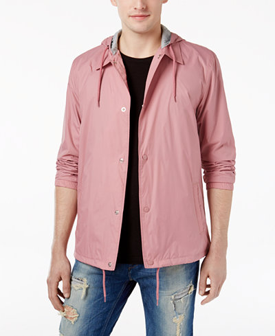 American Rag Men's Solid Coaches Jacket, Created for Macy's