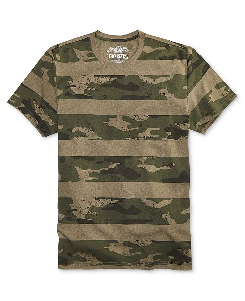660e2c6f048b American Rag Men's Camo Stripe T-Shirt, Created for Macy's & Reviews ...