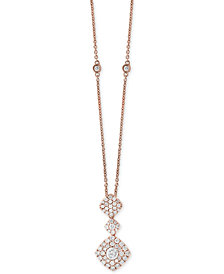 Pavé Rose by EFFY® Diamond Pendant Necklace (1 ct. t.w.) in 14k Rose Gold