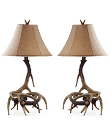 Safavieh Sundance Set of 2 Faux Antler Table Lamps