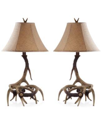 Safavieh Sundance Set Of 2 Faux Antler Table Lamps