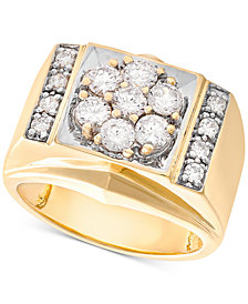 Men's Diamond Cluster Ring (1-1/2 ct. t.w.) in 10k Gold