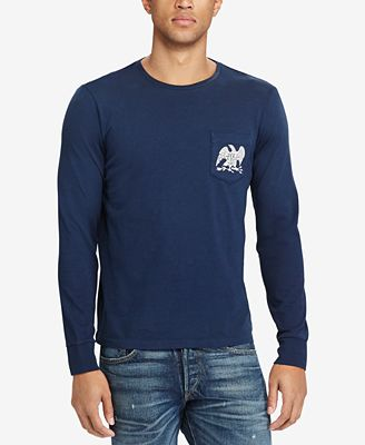 Polo Ralph Lauren Men's Custom Slim Fit Long-Sleeve T-Shirt - T ...