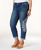 Style & Co Plus Size Curvy Printed Boyfriend Jeans Created for Macys