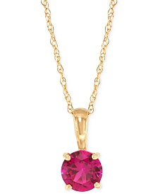 Lab-Created Ruby Pendant Necklace (5/8 ct. t.w.) in 14k Gold