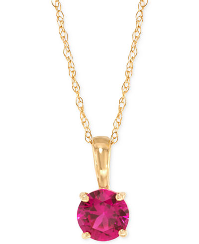 Lab created ruby pendant necklace 58 ct tw in 14k gold lab created ruby pendant necklace 58 ct tw in 14k aloadofball Image collections
