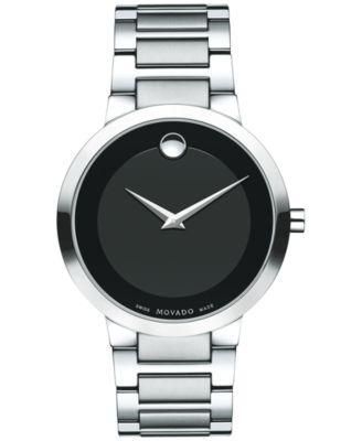 Movado Mens Swiss Modern Classic Stainless Steel Bracelet Watch