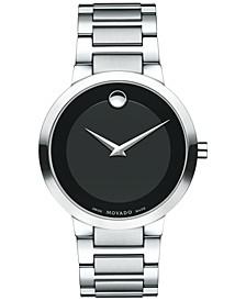 Men's Swiss Modern Classic Stainless Steel Bracelet Watch 39mm 0607119