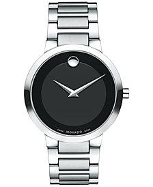 Movado Men's Swiss Modern Classic Stainless Steel Bracelet Watch 39mm 0607119