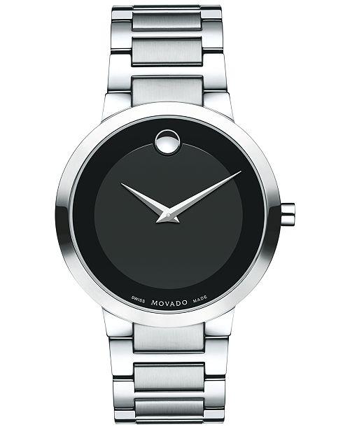 Movado Men's Swiss Modern Classic Stainless Steel Bracelet Watch 39mm 0607119