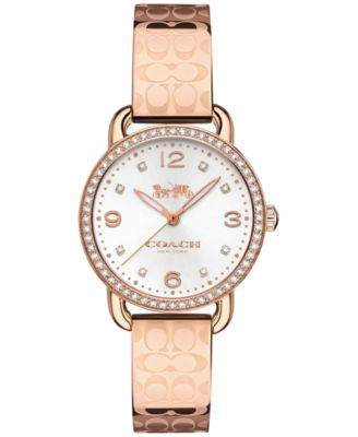 코치 여성 손목 시계 COACH Womens Delancey Rose Gold-Tone Bracelet Watch 28mm