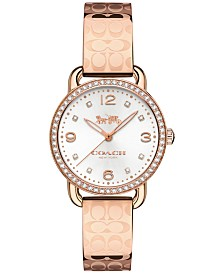 COACH Women's Delancey Rose Gold-Tone Bangle Bracelet Watch 28mm 14502767
