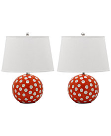Safavieh Set of 2 Polka Dot Table Lamps