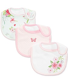 Baby Girls 3-Pk. Floral Bibs, Created for Macy's