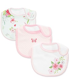 First Impressions Baby Girls 3-Pk. Floral Bibs, Created for Macy's