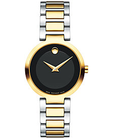 Movado Women's Swiss Modern Classic Two-Tone Stainless Steel Bracelet Watch 28mm 0607102