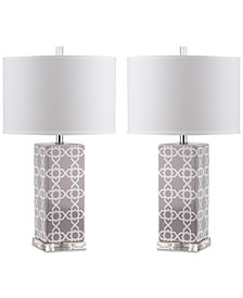 Safavieh Set of 2 Quatrefoil Table Lamps