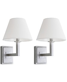 Safavieh Set of 2 Pauline Silver-Tone Wall Sconces
