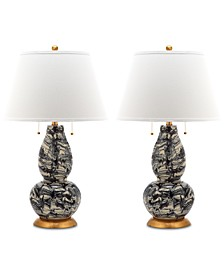 Set of 2 Swirls Table Lamps
