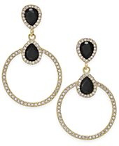 INC International Concepts Gold-Tone Pavé & Jet Stone Drop Earrings, Created for Macy's