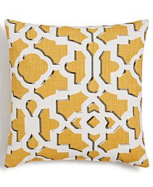 "LAST ACT! Hallmart Collectibles Contemporary Geo-Print 18"" Square Decorative Pillow"
