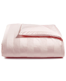 Charter Club Damask Stripe Twin Duvet Cover, 100% Supima Cotton 550 Thread Count, Created for Macy's
