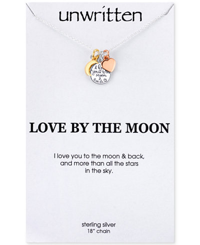 Unwritten i love you to the moon and back charm pendant necklace in unwritten i love you to the moon and back charm pendant necklace in sterling silver mozeypictures Choice Image