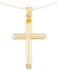 Cross Pendant Necklace in 14k Gold over Resin Core, Created for Macy's