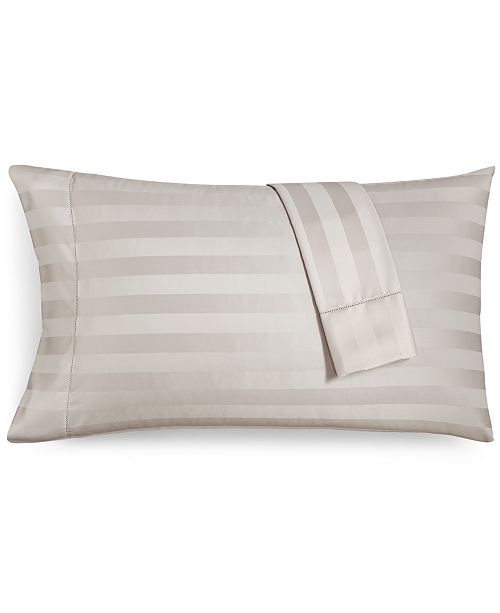 Charter Club Stripe Standard Pillowcase Set, 550 Thread Count 100% Supima Cotton, Created for Macy's