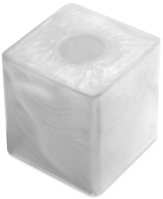Murano White Tissue Box