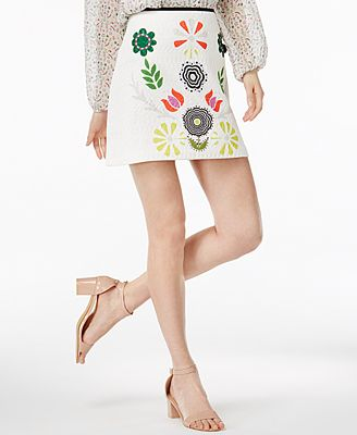 CR By Cynthia Rowley Printed Mini Skirt, Created for Macy's