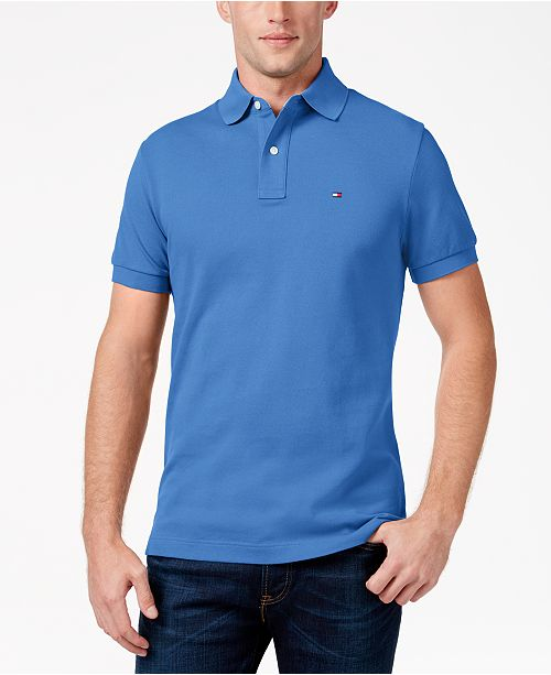 840b41dd Tommy Hilfiger Men's Custom-Fit Ivy Polo & Reviews - Polos - Men ...