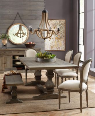 Tristan Trestle Dining Table Created For Macys Furniture Macys - Trestle dining room table