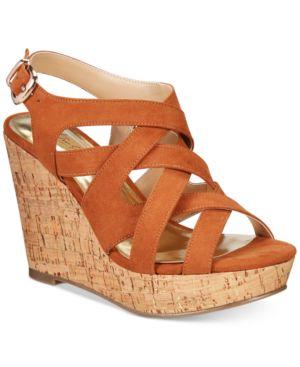 Thalia Sodi Maddora Platform Wide-Width Wedge Sandals, Created for Macy