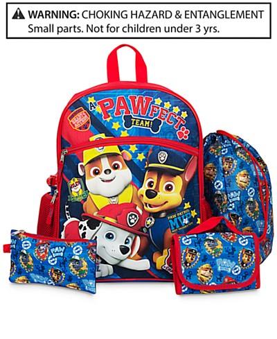 PAW Patrol 5-Pc. Backpack & Accessories Set, Little Boys (2-7) & Big Boys (8-20)