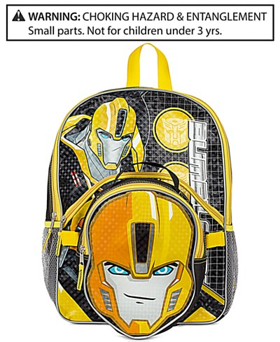 Transformers Backpack with Lunch Bag, Little Boys (2-7) & Big Boys (8-20)
