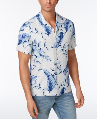 Image of Tommy Bahama Men's 100% Silk Windward Palms Shirt, a Macy's Exclusive