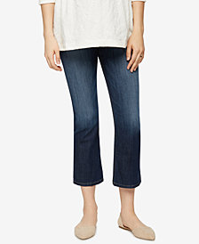 Joe's Jeans Maternity Dark Wash Flared Cropped Jeans